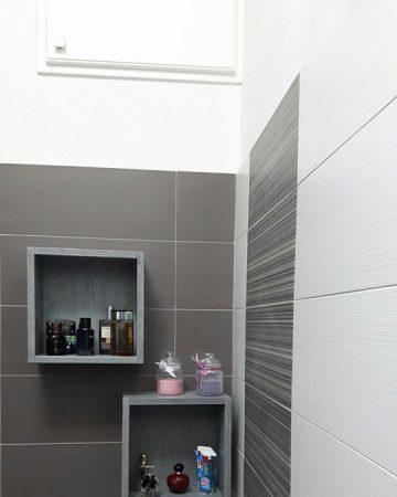 Mobile bagno moderno in rovere spazzolato - Falegnameria Fratelli Floris - Villasimius (Sardegna)