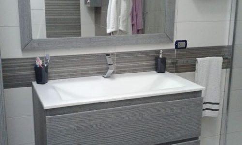 Mobile bagno moderno in rovere spazzolato